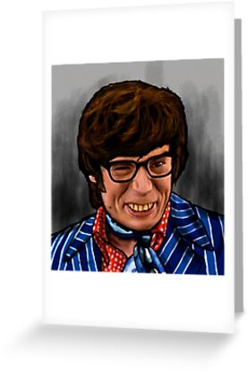 austin powers yeah baby greeting cards by wayne dowsent redbubble