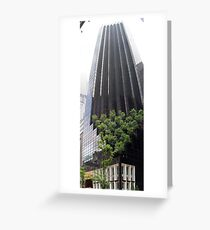 Skyscraper Forest Greeting Card