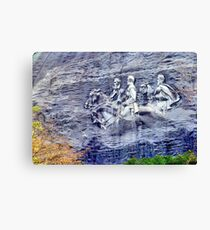 Stone Mountain Carvings Canvas Print