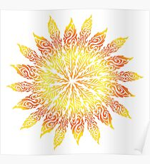 Feather Flower: Summer Snowflake Poster