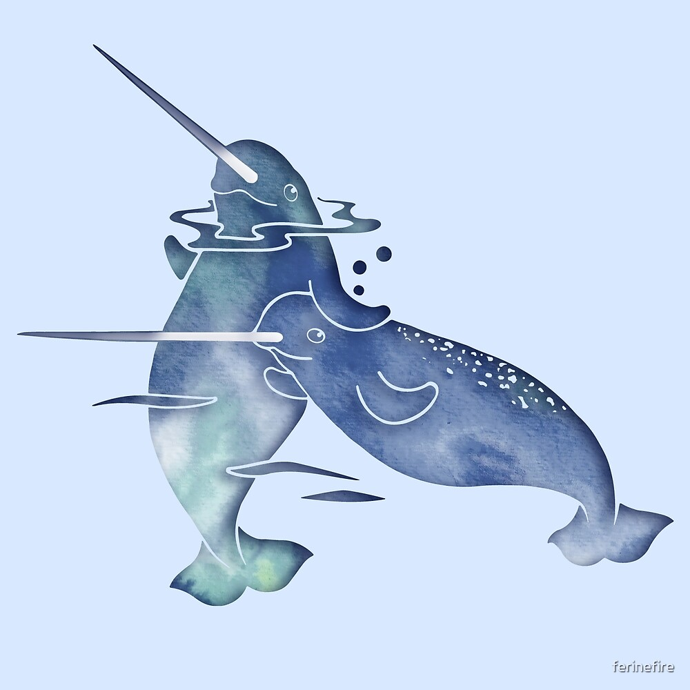 Blue Sea Narwhal by ferinefire