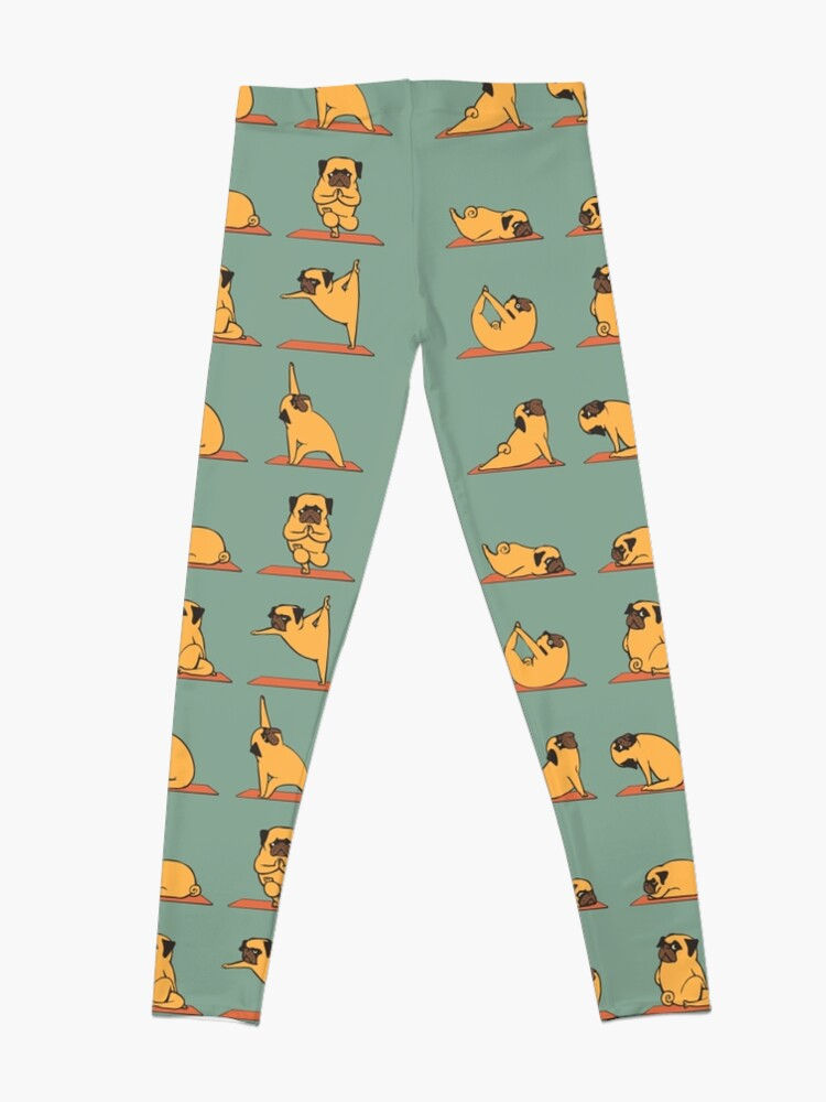 Alternate view of Pug Yoga Leggings