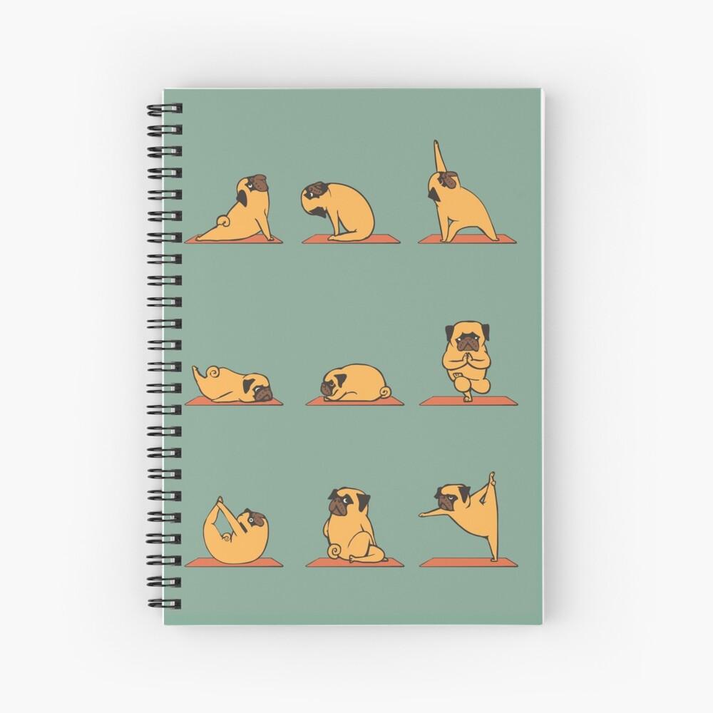 Pug Yoga Spiral Notebook