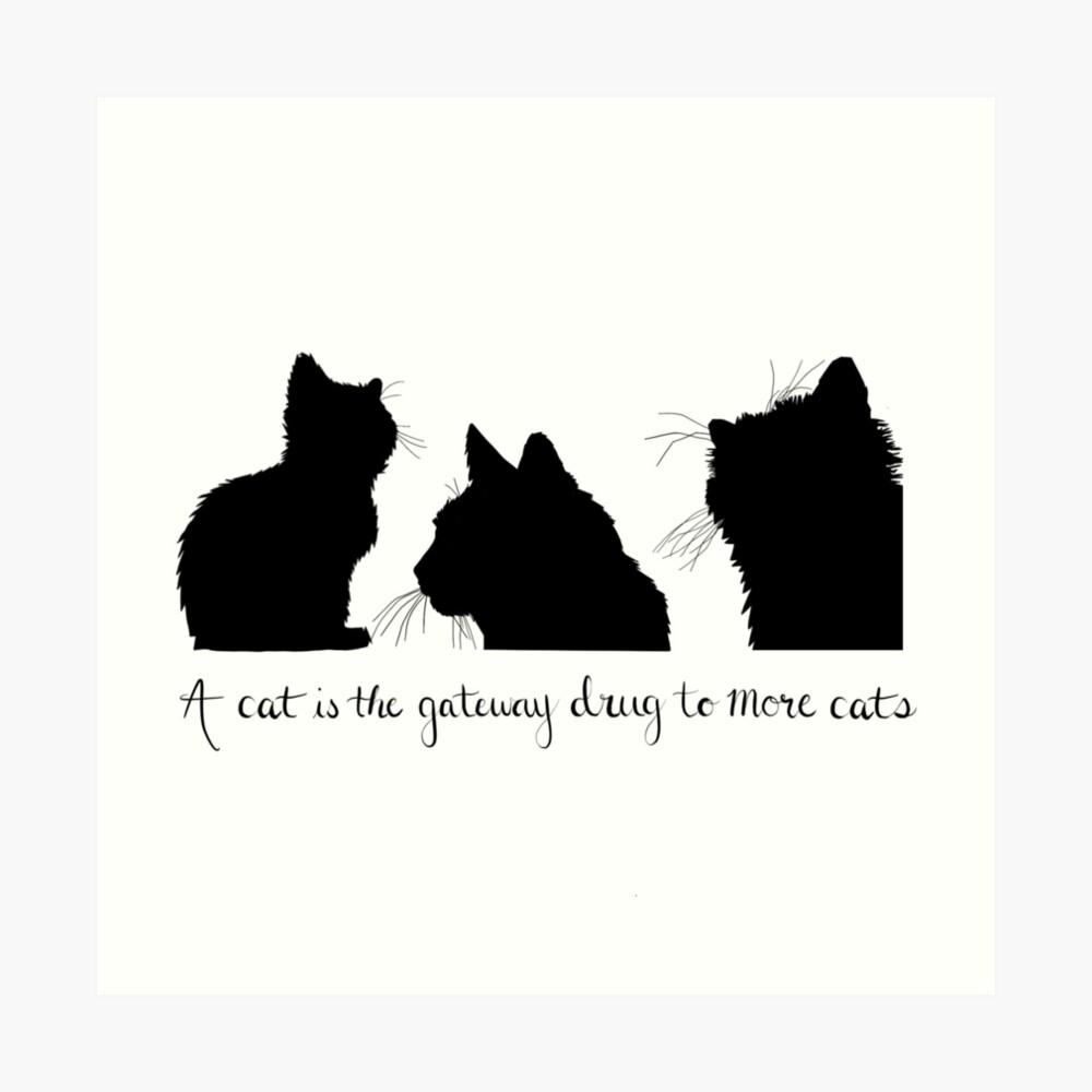 Cat Lady Design Art Print