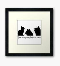 Cat Lady Design Framed Print