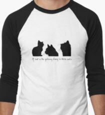 Cat Lady Design Baseball ¾ Sleeve T-Shirt
