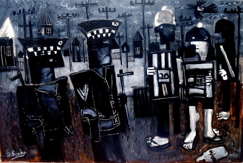 cops versus the young blokes by glennbrady