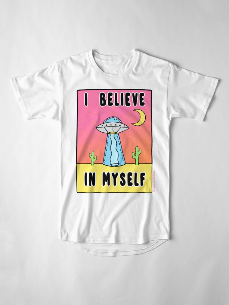 Alternate view of I Believe In Myself - The Peach Fuzz Long T-Shirt