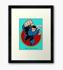 SuperHero Thrust Framed Print