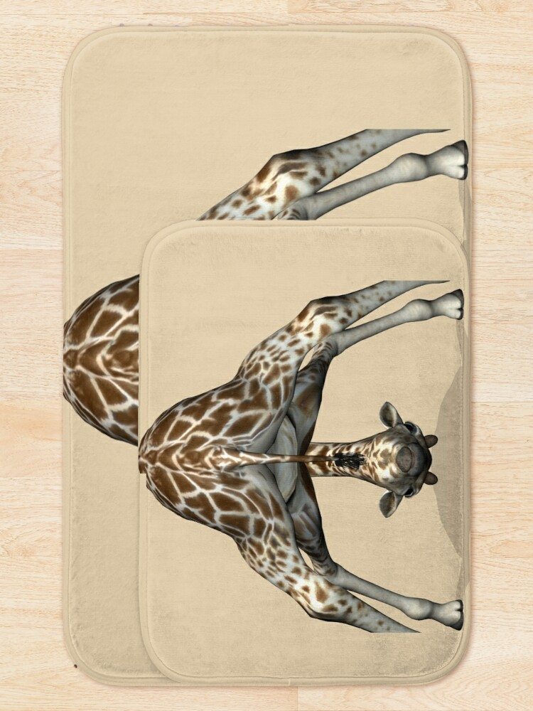 Alternate view of Childish Giraffe Bath Mat