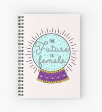 The Future Is Female - The Peach Fuzz Spiral Notebook