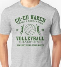 CO-ED Naked Volleyball Unisex T-Shirt