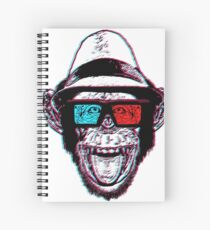 HIPSTER CHIMP - THE CHIMPSTER Spiral Notebook