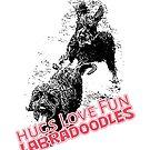 Love Hugs Fun Labradoodles by Ladyfyre