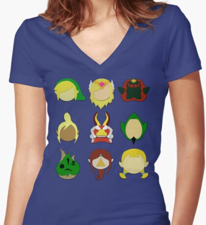 The Wind Waker (Minimalistic)  Women's Fitted V-Neck T-Shirt