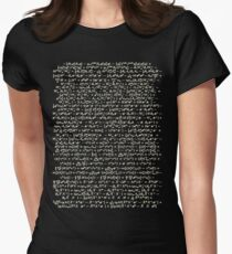 The Standard Model - A Love Poem Women's Fitted T-Shirt