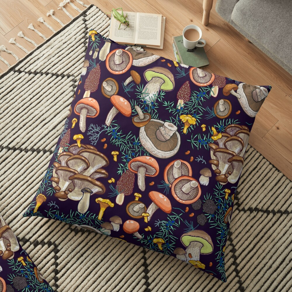 Dark dream forest Floor Pillow