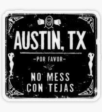 NO MESS CON TEJAS Transparent Sticker