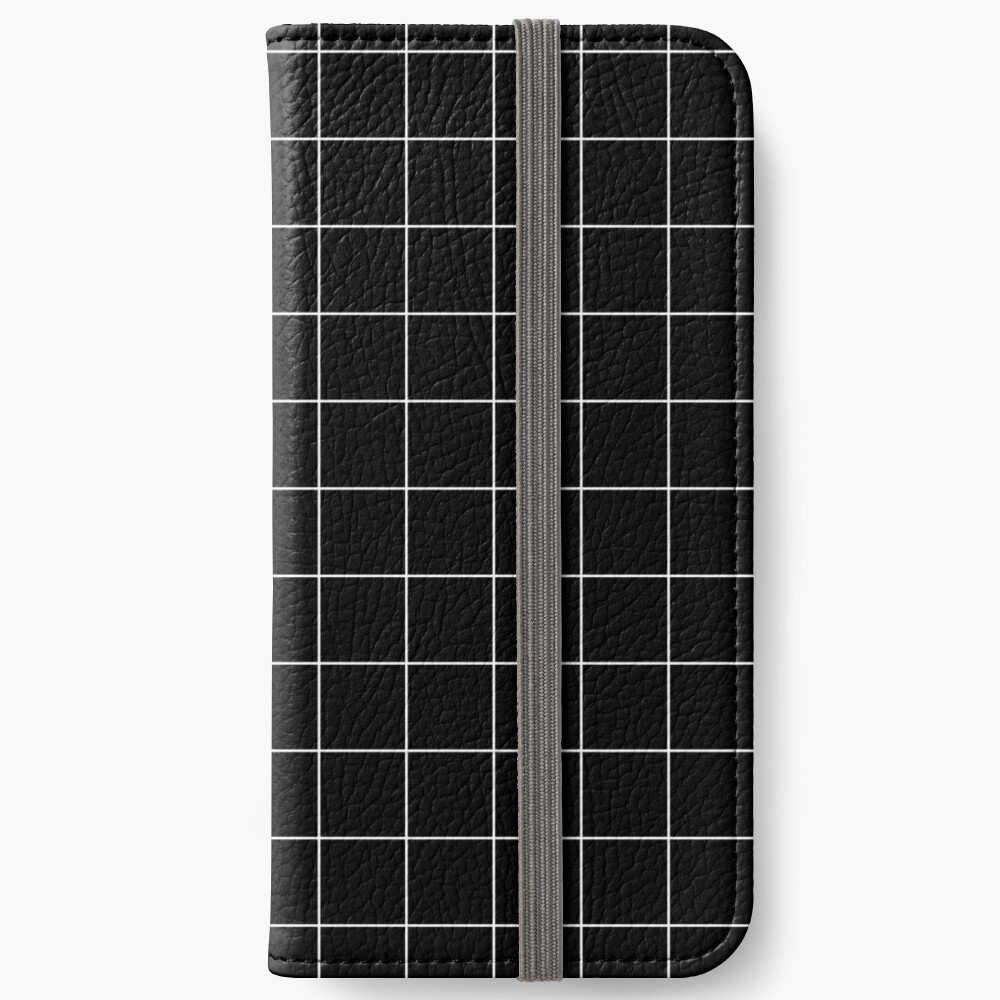 White Grid iPhone Wallet