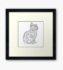 Geometric Cat Framed Print