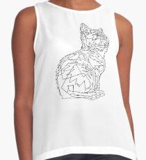 Geometric Cat Sleeveless Top
