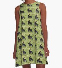 Schwarzes Häschen A-Linien Kleid