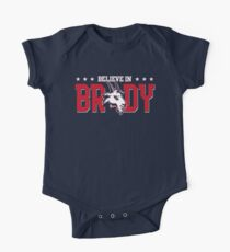 Limited Edition Believe In Brady, Tom Brady, New England Patriots, Tb12 Shirts, Mugs & Hoodies Short Sleeve Baby One-Piece