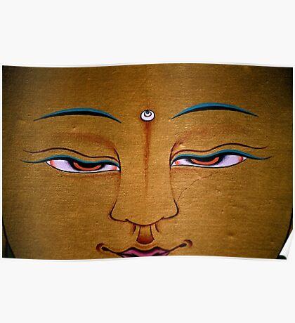 detail. tibetan painting, india Poster