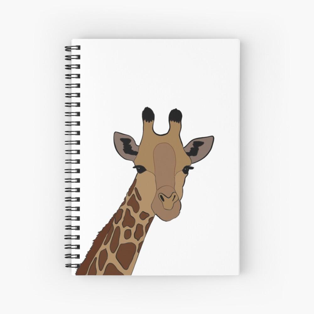 Giraffe Design Spiral Notebook