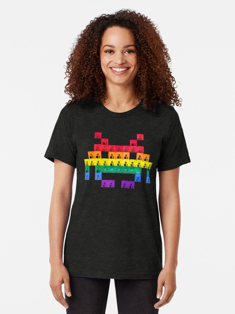 Alternate view of Disk Space Invader Tri-blend T-Shirt