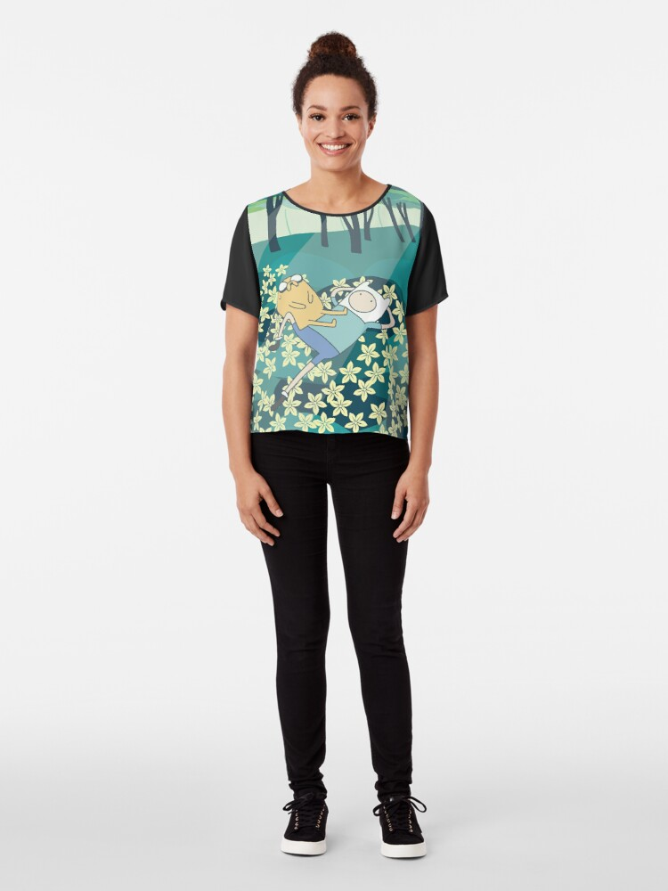 Alternate view of Field of Flowers (Adventure Time) Chiffon Top