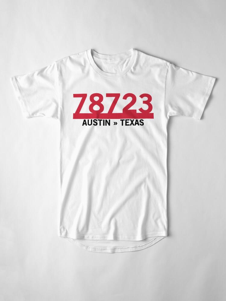 Alternate view of 78723 - Austin, Texas ZIP Code Long T-Shirt