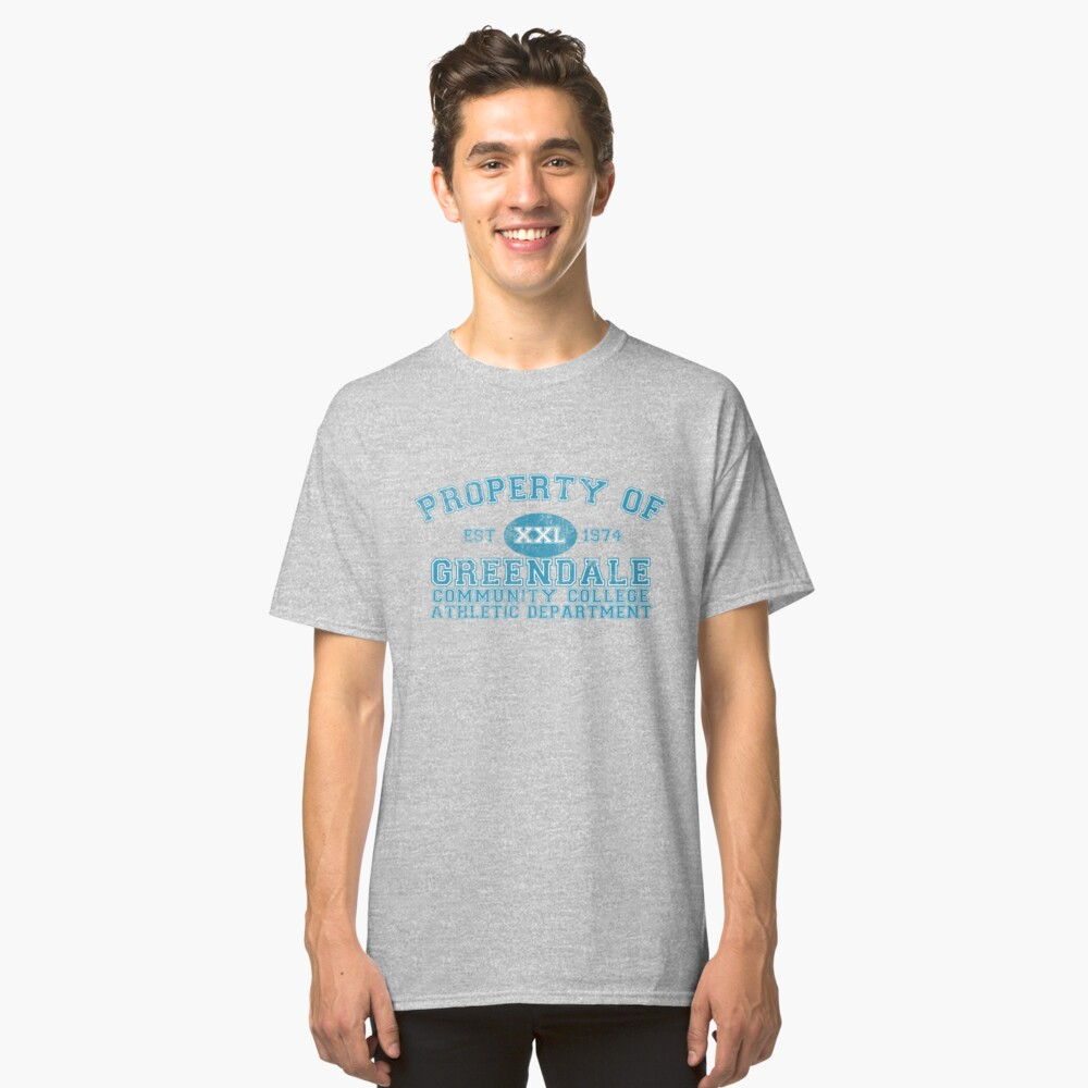 Greendale Community College Athletic Department Classic T-Shirt Front