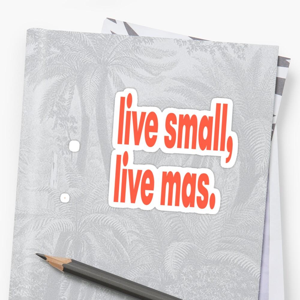Lebe klein, lebe mas, lebe mehr Sticker