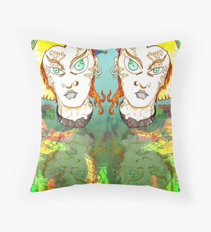 Muted Mullets and other oddities. Throw Pillow