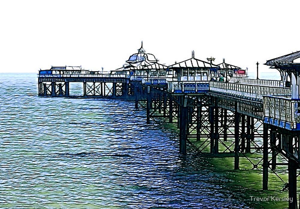 The Pier -Llandudno -North Wales by Trevor Kersley