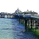 The Pier -Llandudno -North Wales by Trevor Kersley
