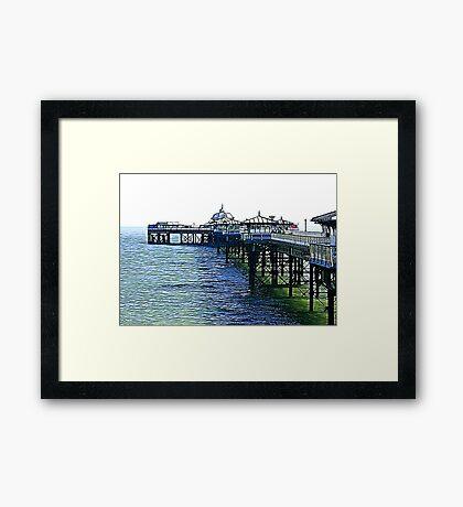 The Pier -Llandudno -North Wales Framed Print