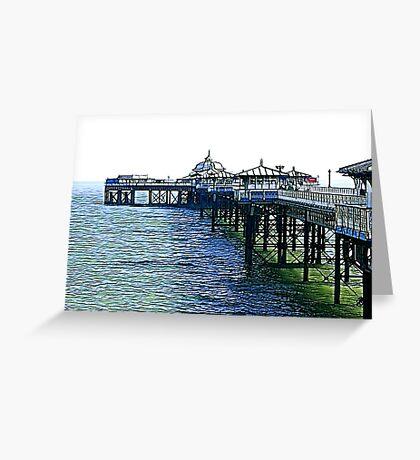 The Pier -Llandudno -North Wales Greeting Card