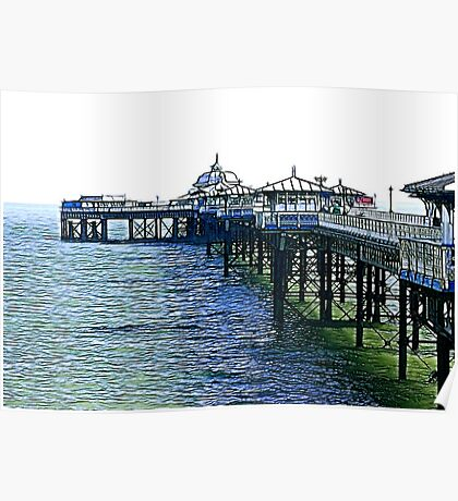 The Pier -Llandudno -North Wales Poster