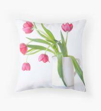 Tulips & Vase Throw Pillow