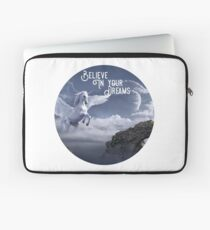Winged Unicorn Shirt, Believe In Your Dreams  Laptop Sleeve