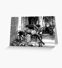 Rickshaw Break Greeting Card