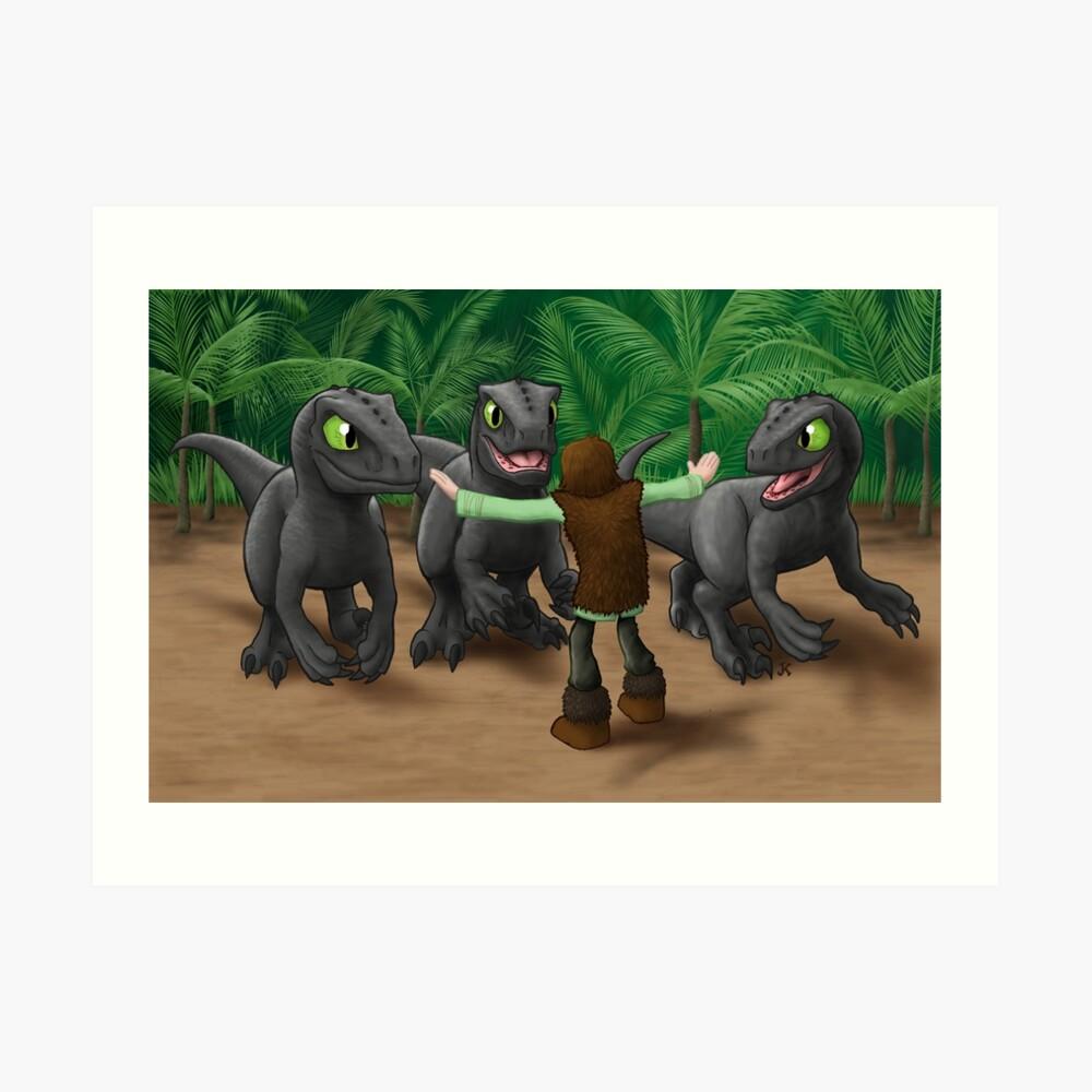 Wie man deinen Dinosaurier ausbildet Kunstdruck
