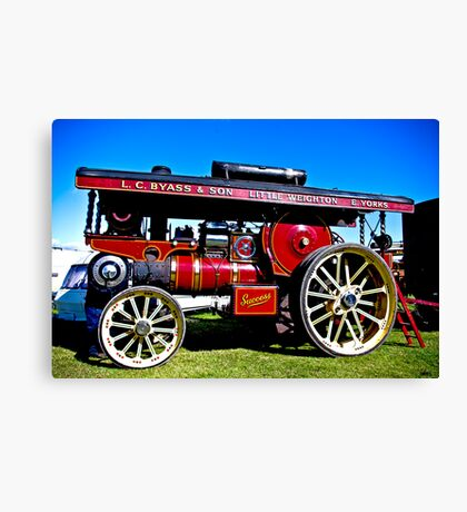 Showmans Road Locomotive Canvas Print