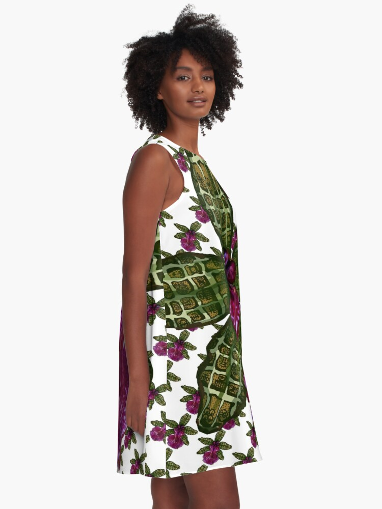 Alternate view of Pinque Trellis A-Line Dress