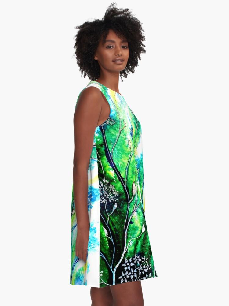 Alternate view of Flower Fields A-Line Dress