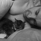 Cat nap with daddy's girl by bywhacky