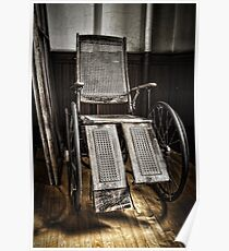 Antique Wheelchair Poster