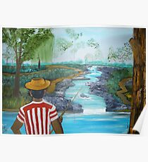 What a Wonderful day for Fishing Poster